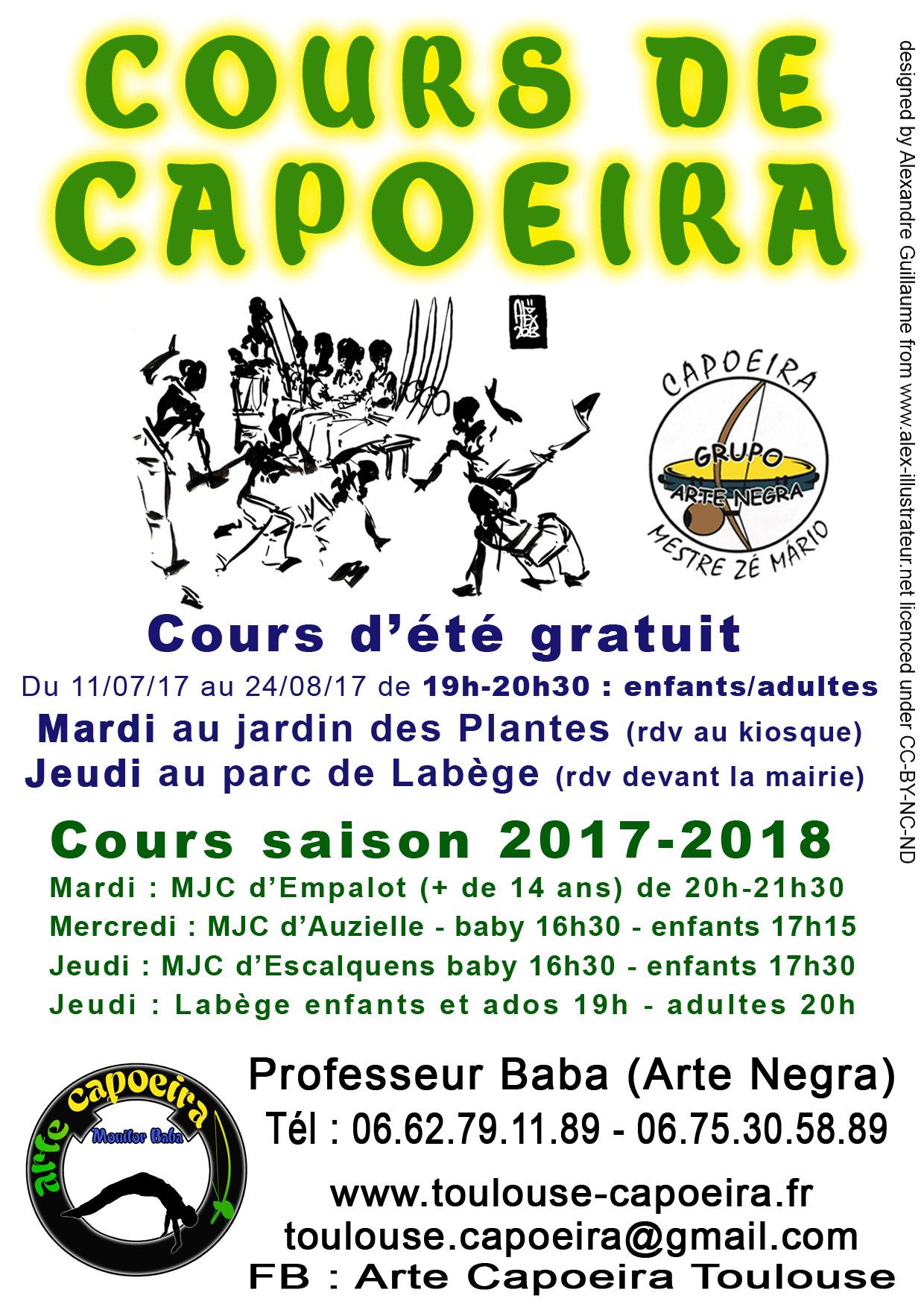 cours ete capoeira 2017
