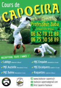 Flyer capoeira Toulouse 2020-2021